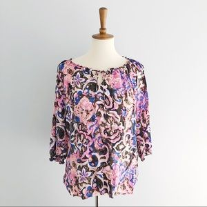 Talbot Floral Abstract Shirt Size Medium
